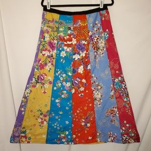 Dresses & Skirts - Colorful Boho Floral Skirt